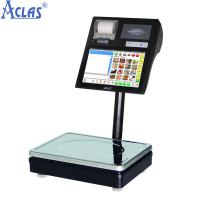 China Label Printing Scale,POS Scale,Touch Screen Scale,Touch Label Scale wholesale