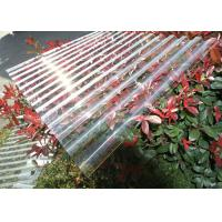 China Thick Corrugated Perspex Roofing Sheets / Corrugated Polycarbonate Roof Panel wholesale