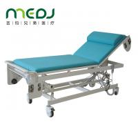 China Auto Change Of Sheets Ultrasound Examination Table Blue And White Color wholesale