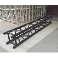 China Indoor Stage Lighting Truss , 4 Sides Brace Tube 290 * 290mm Black Aluminum Spigot Truss wholesale