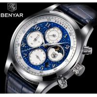Quality Wholesale New BENYAR Men Multifunction Chronograph Quartz Wrist Watches Steel Strap and Leather Steel Optional  BY-5122 for sale