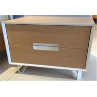 China Fashionable Sturdy Indoor Storage Cabinets With 2 Drawers , Hardwood Bedside Tables wholesale