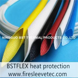 China Liquid Silicone Rubber coated Fiberglass Sleeves wholesale