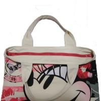China Waterproof Shopping  Nylon Tote Bag 420D Mickey Pattern With Zipper wholesale