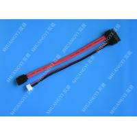 China Slimline SATA Cable 13pin (7+6pin) female to SATA female With LP4 Adapter power wholesale