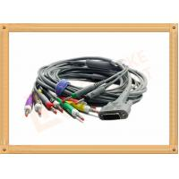 Wholesale DB9 15 Pin One Piece ECG Monitor Cable 10 Leadwires Banana IEC , No Toxic from china suppliers