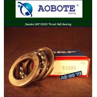China Single Row Thrust Ball Bearing For Crane Hook , Swden SKF 51103 wholesale