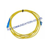 China Simplex Singlemode Fiber Optic Cable Patch Cord For FTTH Systems, Low Insertion Loss wholesale