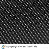 China Mild Steel Wire Mesh|Square Hole Woven Mesh Known as Black Cloth wholesale