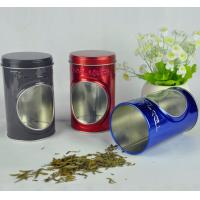 Quality Display Food Grade Tin Containers With Window And Embossing On Box Body for sale