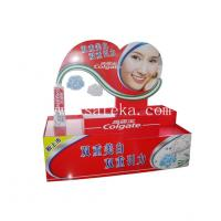 Quality Supermarket Custom Retail Corrugated Cardboard Counter Display for Colgate Tooth for sale