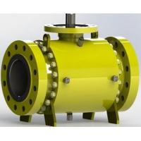 China Safe Carbon Steel  Trunnion Mounted Ball Valve with Self Relieving Seat Rings wholesale