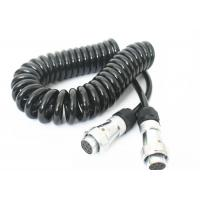China 7 Pin Spring Coiled Electrical Wire For Tractor Trailer Backup Camera Monitor wholesale
