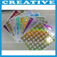 China 3D hologram laser sticker custom logo hologpraphic label wholesale