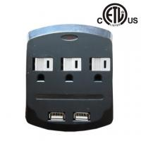 China US 3 outlet wall-mounted usb charging surge protector, ETL approved on sale