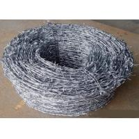 China Green Power Coated High Tensile Barbed Wire Reverse Twist , Normal Twist wholesale