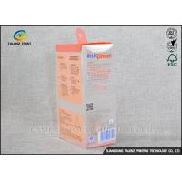 China PET PVC Clear Plastic Boxes Recyclable Harmless Materials Logo Printed wholesale