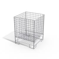 China Custom commercial Wire display shelving / square dump bins for storage merchandise wholesale