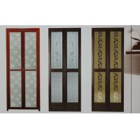 China 1.0mm profile thickness powder coated aluminum bifold doors for bathroom, kitchen wholesale