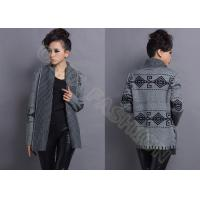 China  Jacquard Womens Argyle Sweaters in Gray wholesale