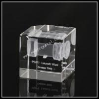 China Crystal Engraved with Machine Images for Promotion Gift wholesale