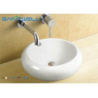 China Western Style Counter Top Wash Basin Antique Bathroom Ceramic Cabinet Sink 500*500*165mm wholesale