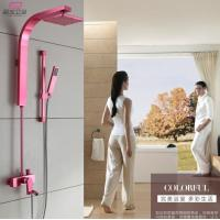 China Great Space Aluminum Bathroom Shower Sets Rose Red Color OEM Factory wholesale