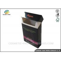 China Fancy Paper Cigarette Packaging Box Full Color Printing Consistent Clarity With Lid wholesale