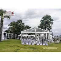 China Semi Permanent Durable Commercial Wedding Tent Clear - Span Width 12m wholesale