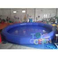 China Big Outdoor PVC Round Inflatable Swimming Pool Blue Water Park Equipment wholesale