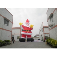 China Xmas Holiday Inflatable Santa Claus, Large Commercial Christmas Santa Outhouse Christmas Inflatable Decoration on sale