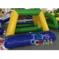 China 0.9MM PVC Vinyl Tarpaulin Inflatable Water Game Bridge Shape For Water Park wholesale