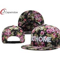 Quality Floral / Camouflage Cotton Custom Strapback Hats Ladies Baseball Caps for sale