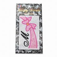 Buy cheap Crystal Sticker for Mobile, Easy to Remove, Made of Crystal, Acrylic, Diamond, from wholesalers