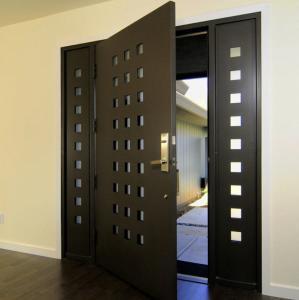 China USA Villa Main Entry Door Modern Design Pivot Wooden Doors wholesale