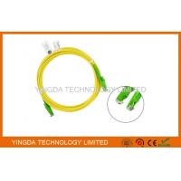 China HUBER + SUHNER E2000 / APC SC Fiber Optic Patch Cable 3 Meters / Fiber Optic Jumpers wholesale