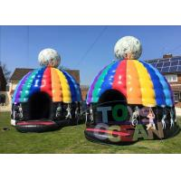 China Party Inflatable Bounce House Disco Dome Bouncy Castles With Light Music Box wholesale