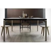 China Wood Top Rectangle Modern Dining Room Tables Stainless Steel European Design wholesale