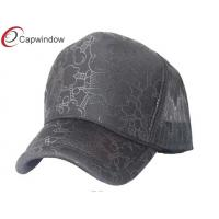 China Grey Allover Pattern Printing Trucker Mesh Caps With Multi Spandex Fabric wholesale