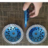 China 7 Turbo Cup Wheel Diamond Grinding Disc For Concrete and Stone Grinding wholesale