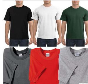 China Wholesale mens round neck custom screen printed tshirts wholesale