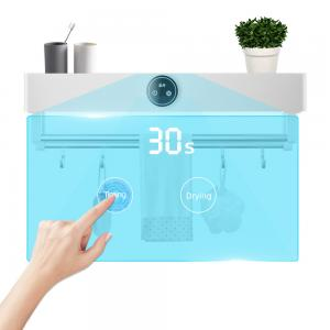 China White Color Towel Rack With UV Sterilizer Warmer Heating Drying Functions wholesale