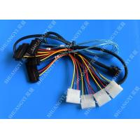 China Internal Mini SAS SFF-8643 to (4) 29pin SFF-8482 connectors with SATA Power ,1M wholesale
