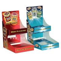 China Two shelf Cardboard counter display for chewing gums & Fresher wholesale