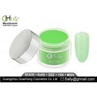 Durable Acrylic Gel Dip Powder 1 Oz With Strong Adhesion , Green Color