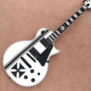 China In stock Custom LTD Iron Cross SW James Hetfield Signature Electric Guitar EMG Snow White, Rosewood Fingerboard, Free sh wholesale