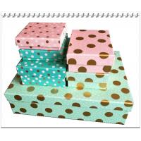 China eco-friendly  color full  cardboard 6 pcs storage box set  nested gift box wholesale