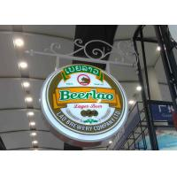 China Aluminum Frame Vacuum Forming Light Box / Pub Beer Light Box Waterproof With Hanging Sign Iron Bracket wholesale