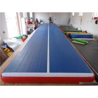 China Soft Air Track Tumbling Mat , Gymnastics Landing Mats Blue Top Red Bottom wholesale