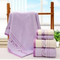 China Pure Cotton Microfiber Bath Towels Anti - Fade With High Water Absorbency wholesale